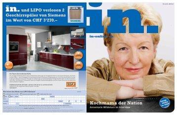 und LIPO verlosen 2 Geschirrspüler von Siemens im ... - IN-Media