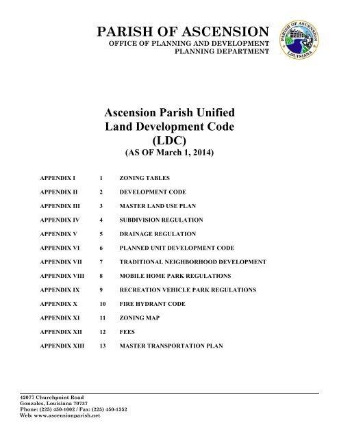 Entire Code Book Combined - Ascension Parish