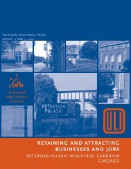 retaining and attracting businesses and jobs - ULI Chicago - Urban ...