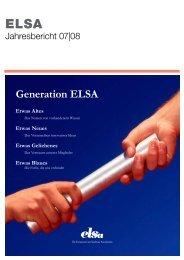 Jahresbericht ELSA-Deutschland e.V. 2007/2008 - ELSA Germany