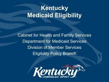 Kentucky Medicaid Eligibility - Kymmis.com