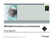 MPC560xB Architecture and Peripherals - Freescale Semiconductor