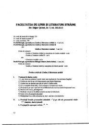 FACULTATEA ne unei şi LITERATURII srnAlNE - CIOCP