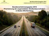 Präsentation Bundesverkeswegeplan 2015 - Prokluftern.de
