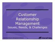 Customer Relationship Management - Silicon Valley World Internet ...