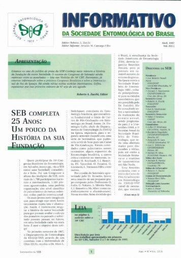 25 ANOS: HIST~RIA - Sociedade Entomológica do Brasil