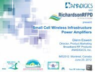 Small Cell Wireless Infrastructure Power ... - Richardson RFPD