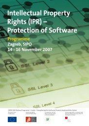 Protection of Software - Državni zavod za intelektualno vlasništvo