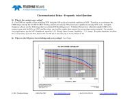 Electromechanical Relays - Frequently Asked ... - Teledyne Relays