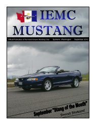 September 2012 Full Newsletter - Inland Empire Mustang Club