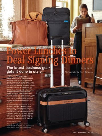 Power Lunches to Deal Signing Dinners - Travel Goods Association