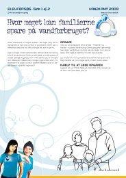 VANDKAMP 2009 ELEVFORSØG · Side 1 af 2 - Aarhus Vand