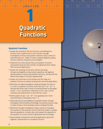 Quadratic Functions - McGraw-Hill Ryerson