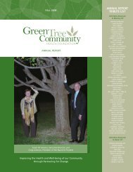 AnnuAl report tribute list - Green Tree Community Health Foundation