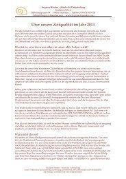 Lies hier über die Zeitqualität 2013 - Katharina Sebert