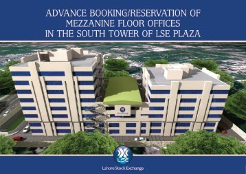 mezzanine floor offices in the south tower of lse plaza - Lahore Stock ...