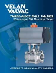 Velan Valvac Three Piece Ball Valves