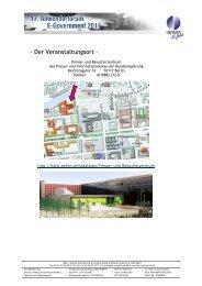- Der Veranstaltungsort – - INFORA Tagungsplaner
