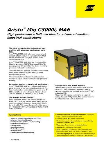 Aristo™ Mig C3000i, MA6 - Alas-Kuul AS