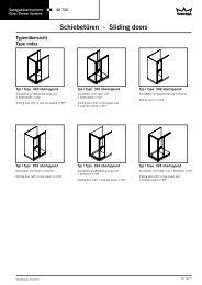 Schiebetüren - Sliding doors - DORMA Interior Glas