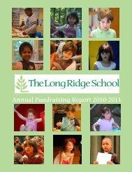 Annual Fundraising Report 2010-2011 - The Long Ridge School