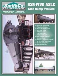 Download SX5 PDF Spec Sheet - SmithCo Side Dump