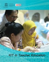 ICT in Teacher Education - UNESCO Bangkok