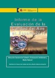 Informe de la Evaluación de la Calidad del Aire en España - 2011