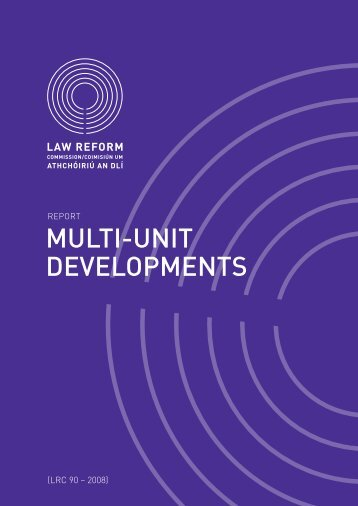 Report on Multi-Unit Developments - Law Reform Commission
