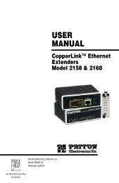 CopperLink Ethernet Extenders Model 2158 ... - ARC Electronics