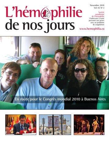 Novembre 2010 - Société Canadienne de l'Hémophilie