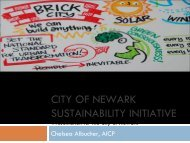 City of Newark Sustainability Initiative - ICLEI Local Governments for ...