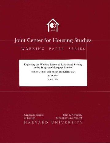 Untitled - Joint Center for Housing Studies - Harvard University
