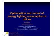 Optimisation and control of energy lighting consumption in offices