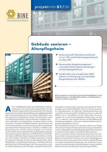 303 KB - Energetische Sanierung der Bausubstanz - EnSan