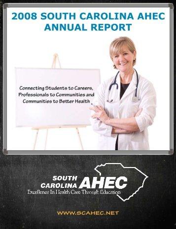 2008 south carolina ahec annual report - South Carolina Area ...