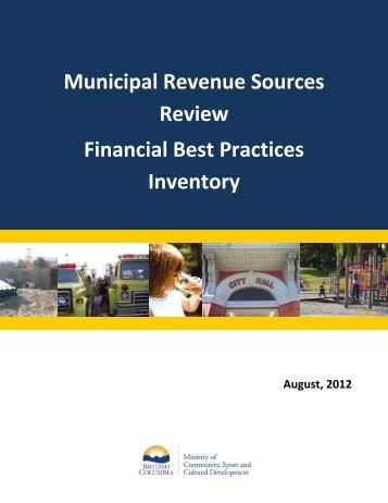 Financial Best Practices Inventory - Ministry of Community, Sport ...