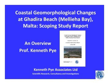 Coastal Geomorphological Changes at Ghadira Beach (Mellieha Bay)