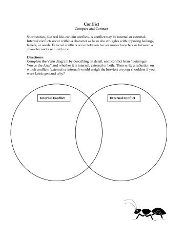 Internal and external conflict graphic organizer