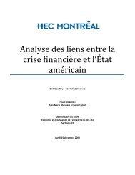 Analyse des liens entre la crise financière et l'État ... - Sympatico