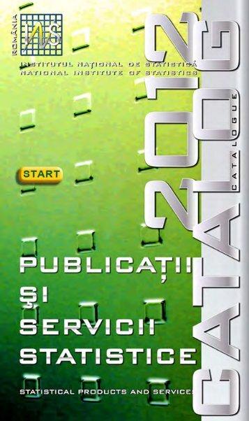 Catalogul publicatiilor INS 2012 - Institutul National de Statistica