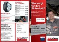 Wer sorgt für Ihre Sicherheit? - FSF Autocrew