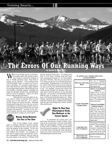 The Errors Of Our Running Ways - Colorado Runner