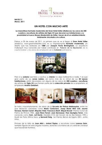 Un hotel con mucho arte (Marzo) - Gran Hotel Sóller