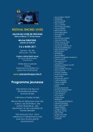 Programme jeunesse - Salon du livre de Provins