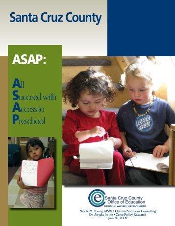 Santa Cruz County ASAP: - Santa Cruz County Office of Education ...