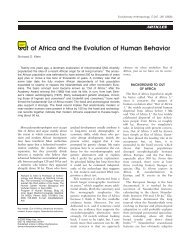 Out of Africa and the evolution of human behavior - Wiley Online ...
