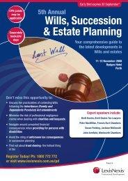 Wills, Succession & Estate Planning WA - LexisNexis