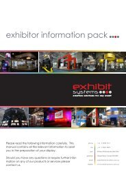 exhibitor information pack - Uniform and Workwear Expo