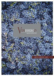 2012 PRICE LIST - Vinissimo Direct